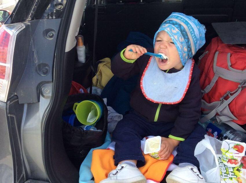 vacances voitures avec bébé