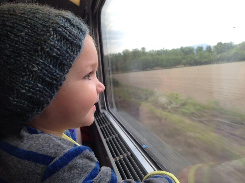 traveling by train with a baby