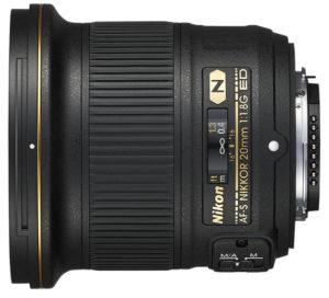 Nikon AF-S 20mm f:1.8G grand angle