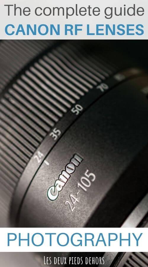 Canon RF photography lenses