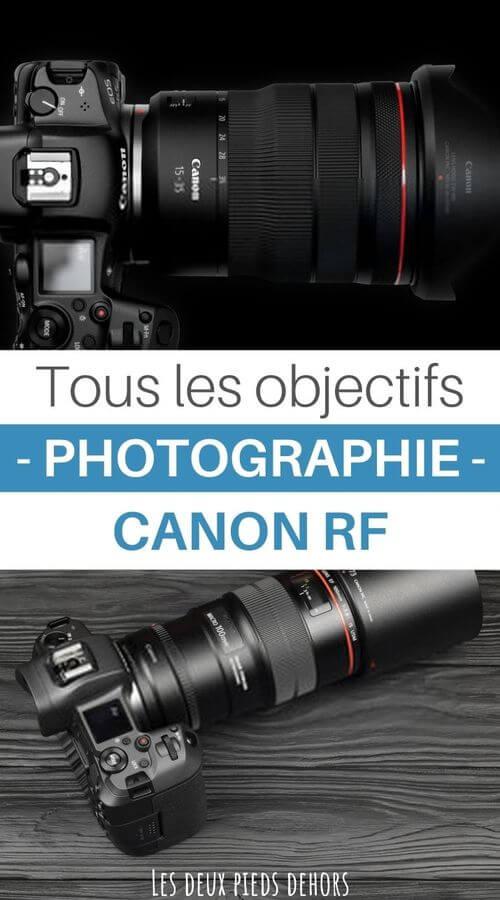 Liste des objectifs pour Canon RF