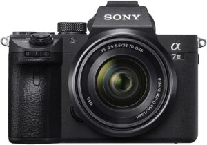 mirrorless camera with built-in image stabilization sony A7 III