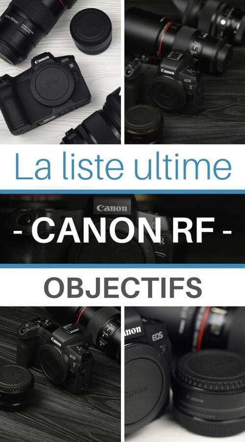 choisir son objectifs pour Canon RF