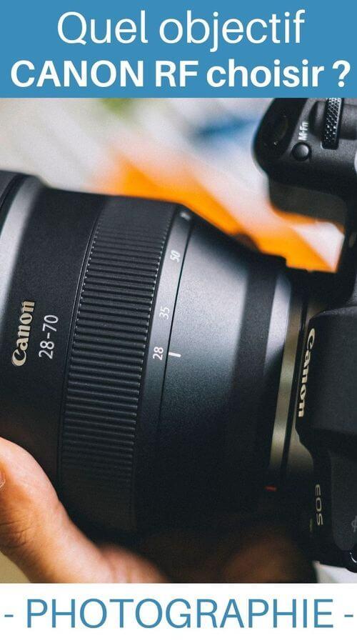 guide photographie des objectifs pour Canon RF
