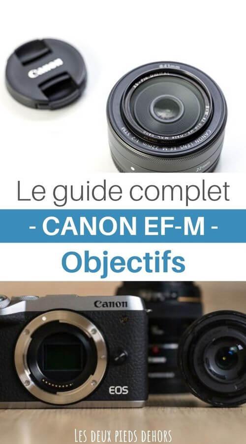 guide de référence photographie objectifs Canon EF-M