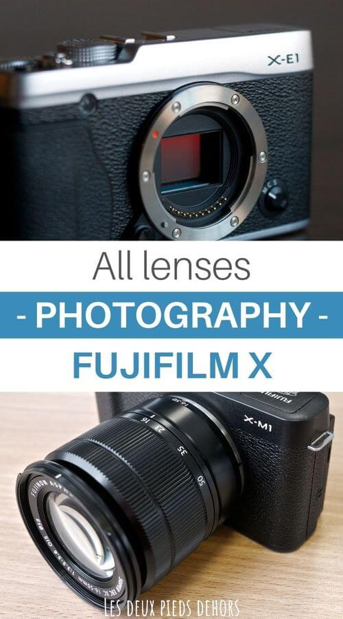 complete list lenses fuji X