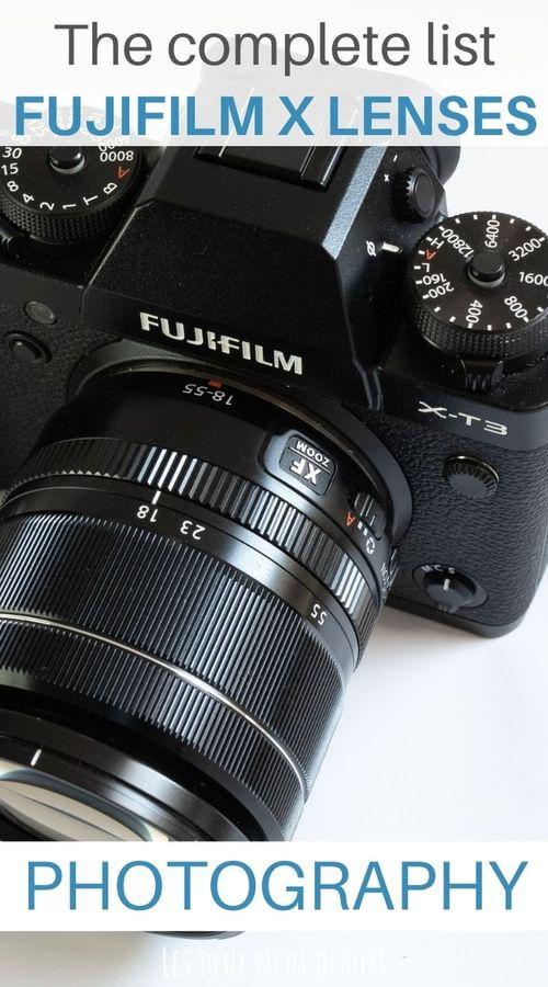 choose fujifilm X lenses photo