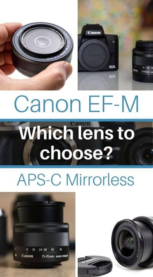 guide canfon ef-m lenses