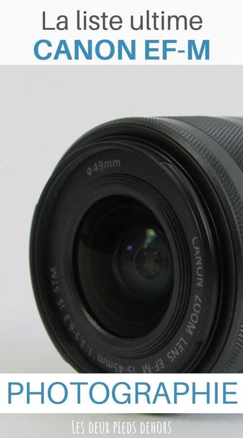 choisir son objectif pour hybride APS-C Canon EF-M