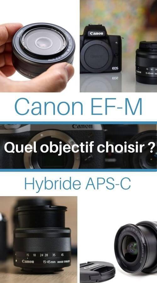 guide complet des objectifs photo pour Canon EF-M