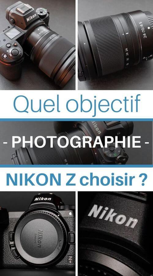 tous les objectifs photo pour Nikon Z