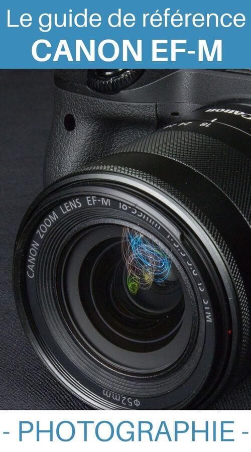 liste des objectifs pour Canon EF-M