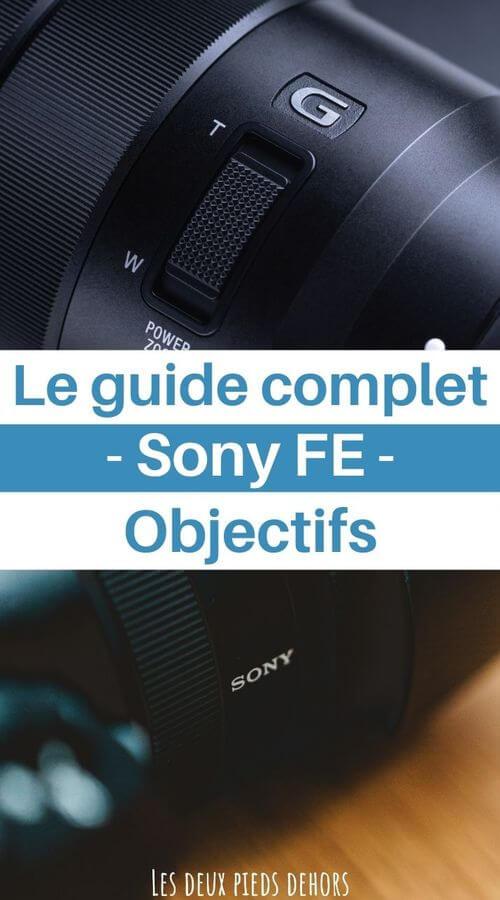 guides photographie des objectifs pour Sony FE