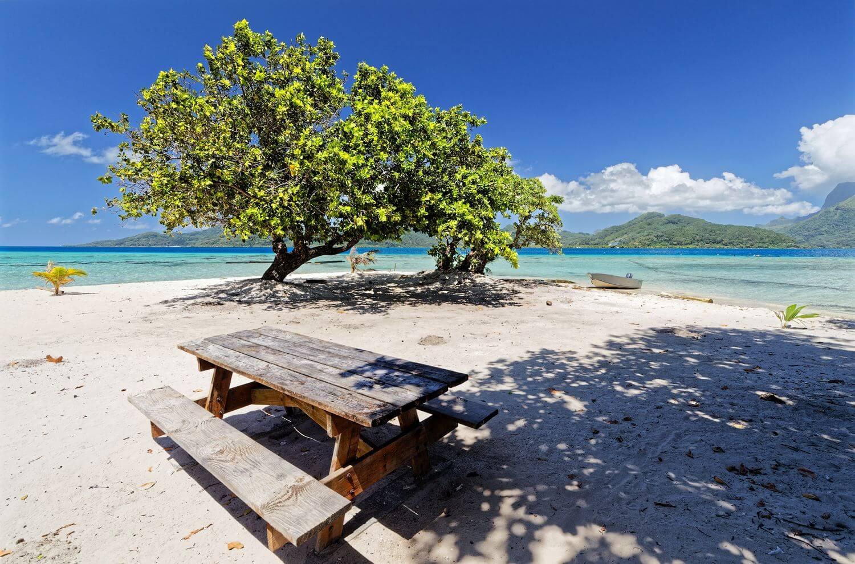 paradisiacal setting on the island of raiatea