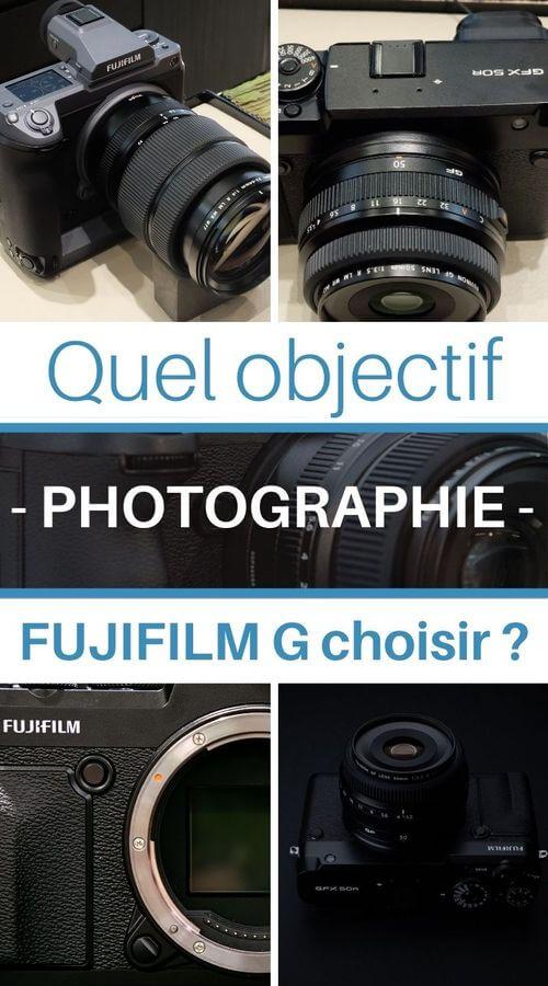 objectifs fuji pour monture G photographie