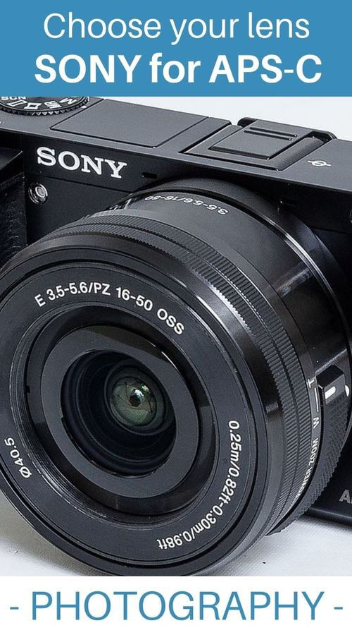 guide to photo lenses for Sony E