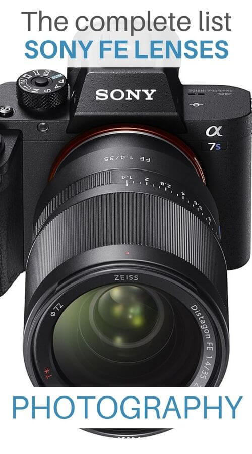 lens photography guides for Sony FE