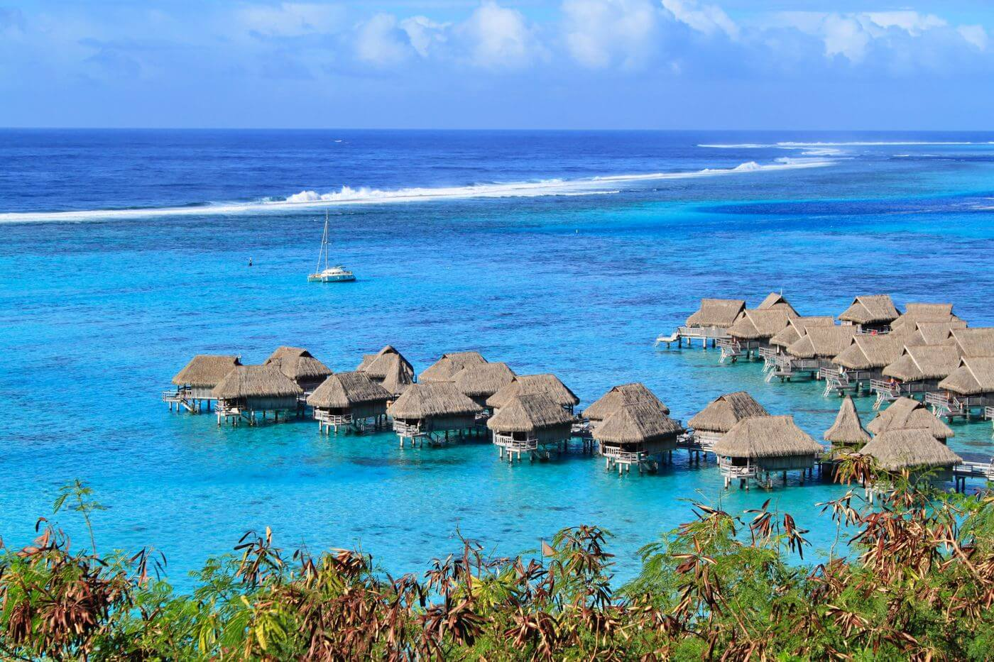 overwater bungalows Sofitel Moorea