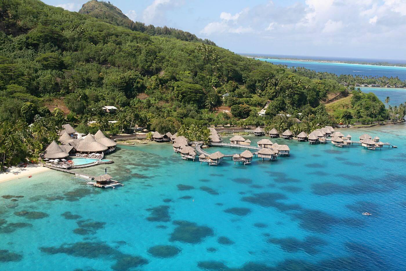 aerial view of Sofitel Marara Bora Bora