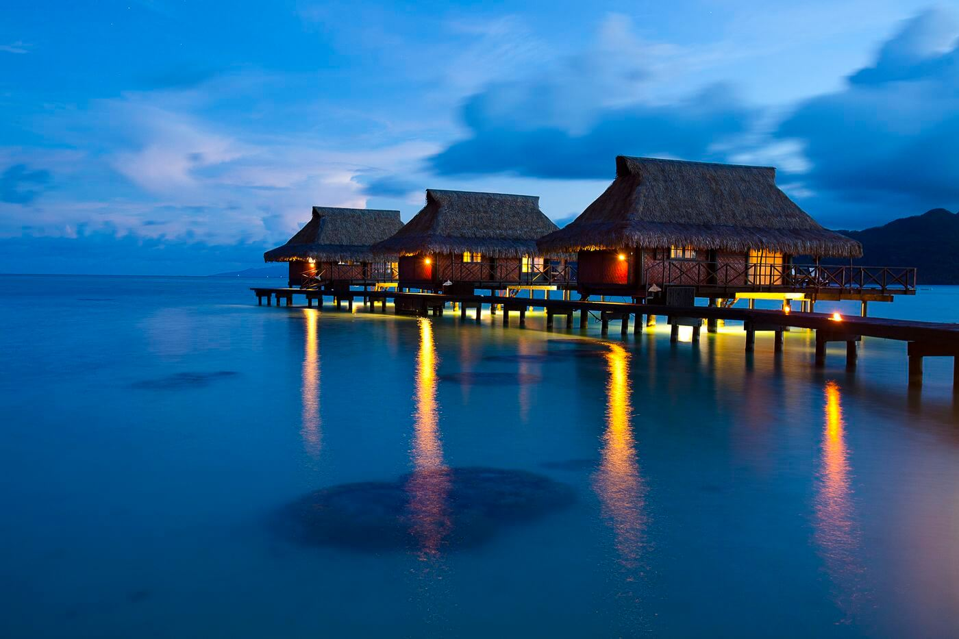 Vahine Island Private Resort overwater bungalows