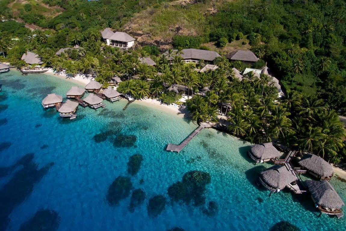 Hôtel Maitai Bora Bora aerial view