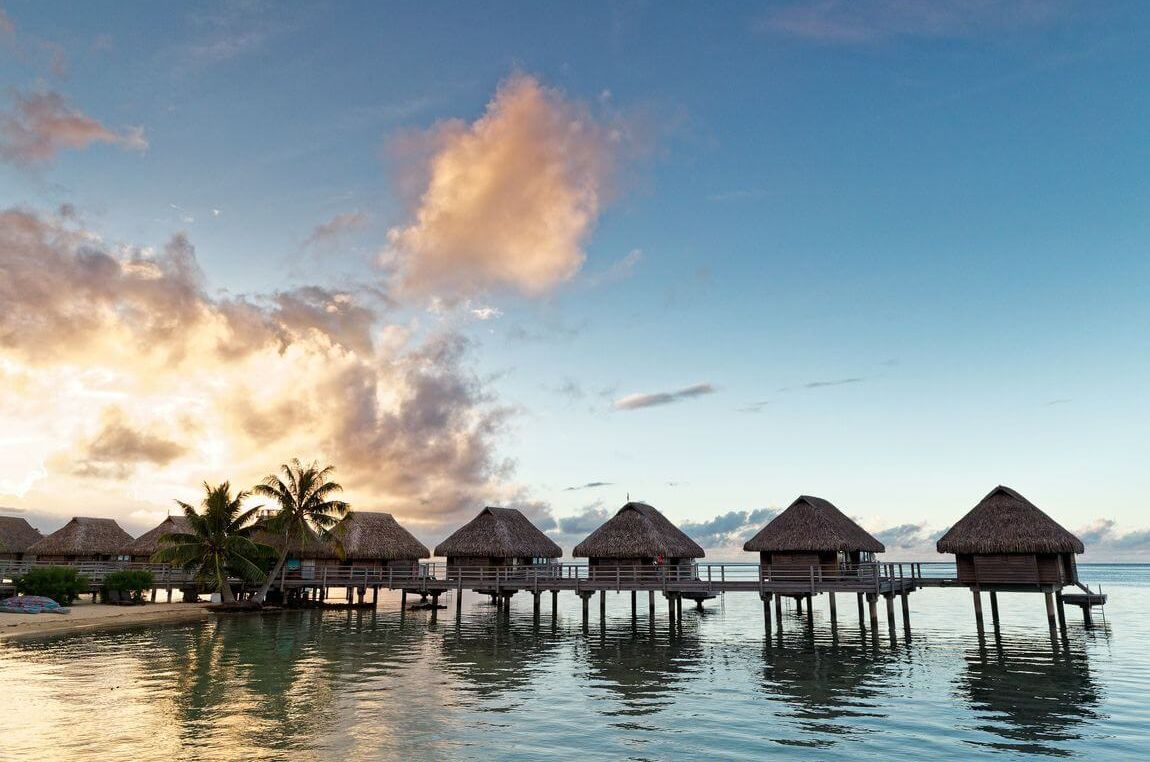 sunset bungalow overwater manava