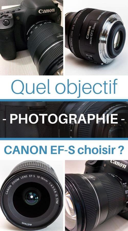guides photographie des objectifs pour Canon EF-S