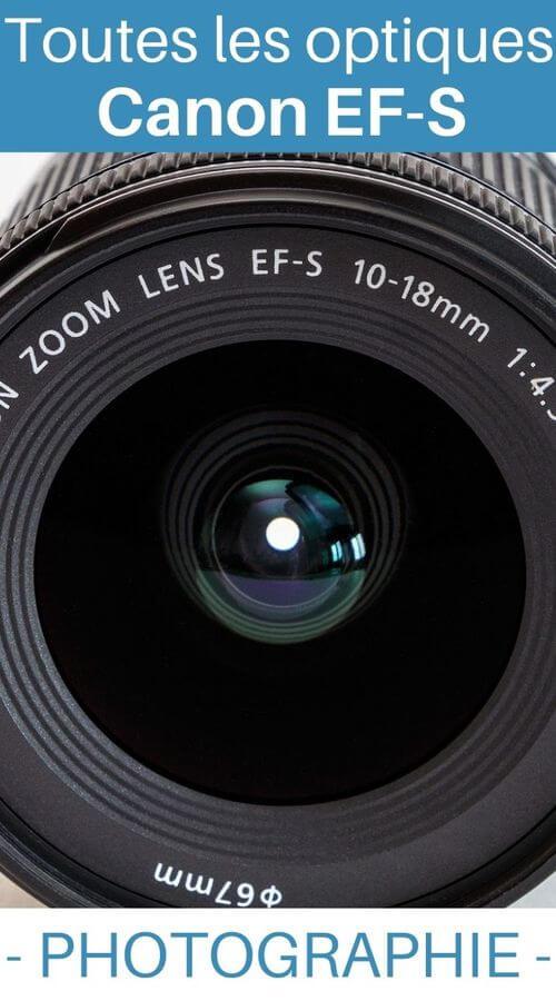 Liste objectifs Canon EF-S photo