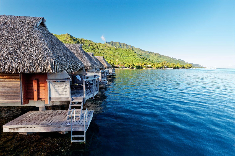 ocean view of premium overwater bungalow manava