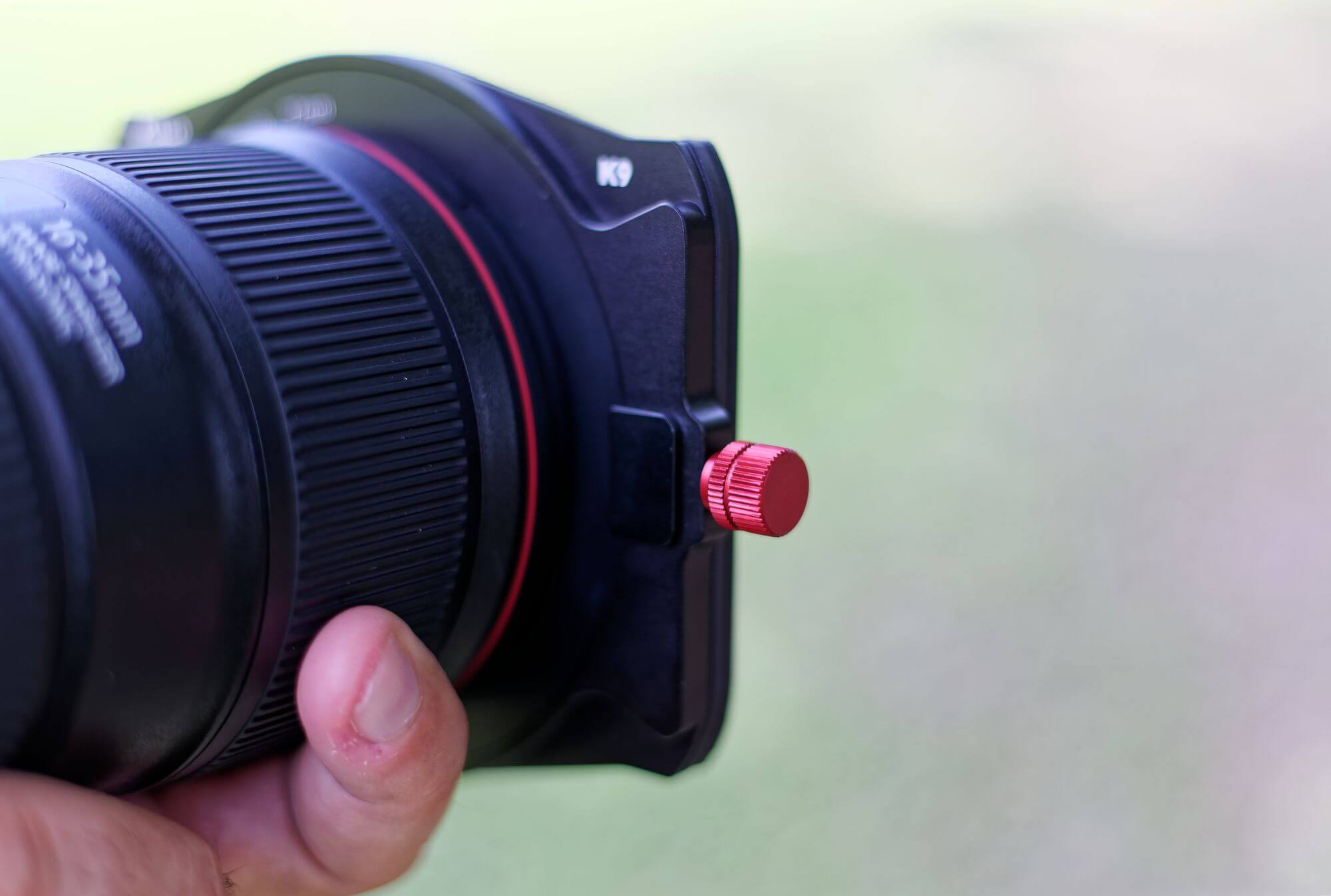 porte filtre kase et molette réglage