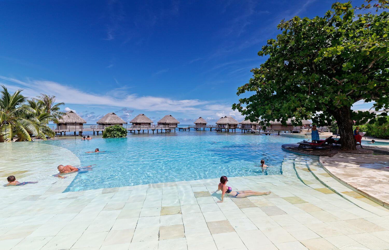 amazing view of the manava pool moorea