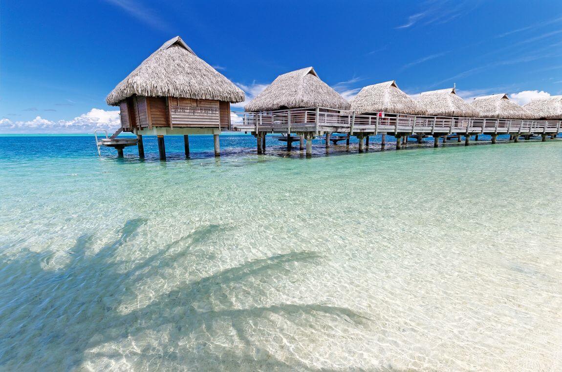 white sand beach manava moorea