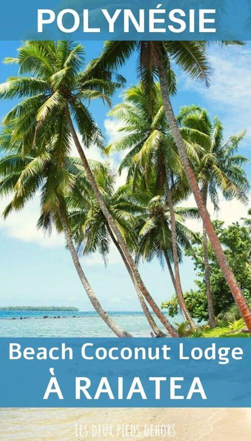 le beach coconut lodge sur l'île de raiatea