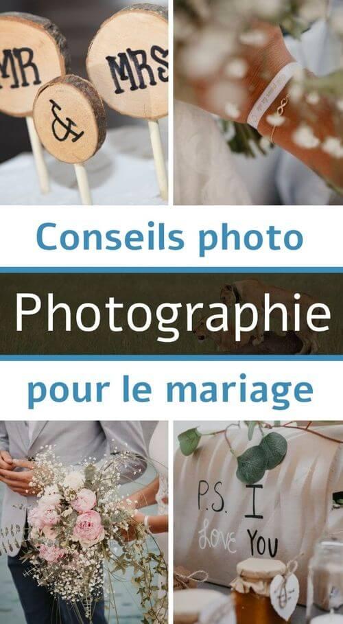 Conseil photo pour le mariage