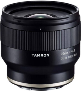 tamron 20mm, une belle alternative grand angle pour sony