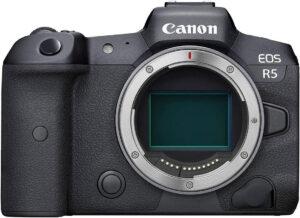 canon R5 mirrorless camera