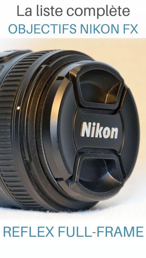 objectifs nikon fx pour boitier nikon full frame