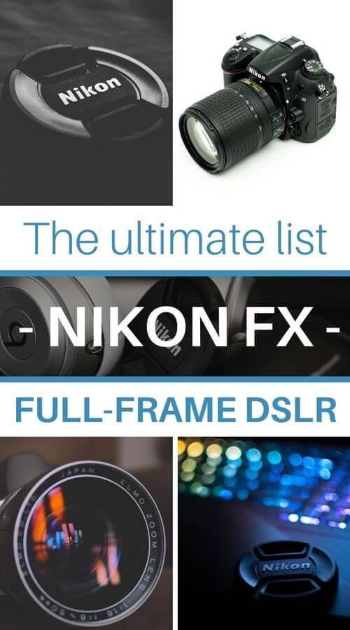 lenses for nikon full frame DSLR nikon FX