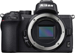nikon APS-C Z50 mirrorless camera