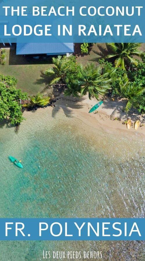Alternative accommodation Raiatea Beach Coconut lodge