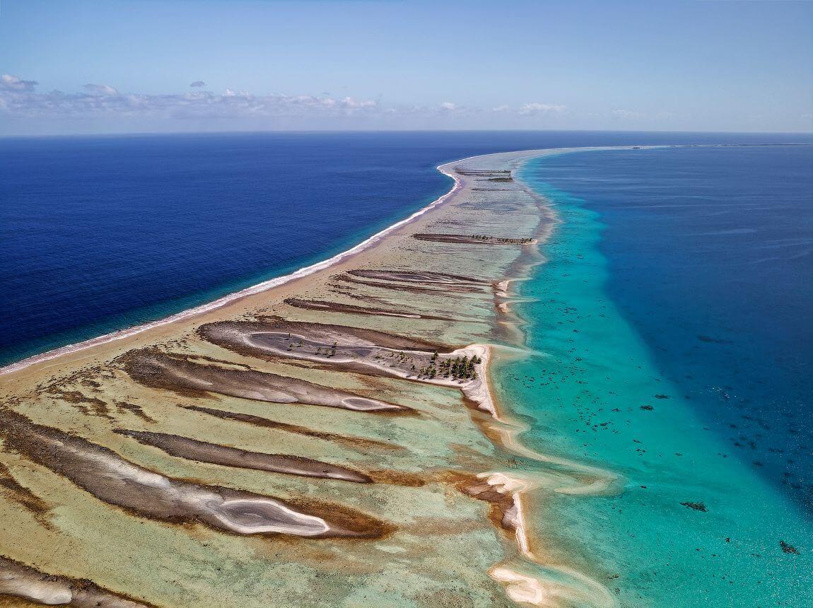 Photo de drone sur Kauehi