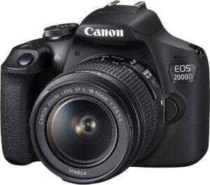Canon Rebel T7/ EOS 2000D camera, dslr aps-c sensor
