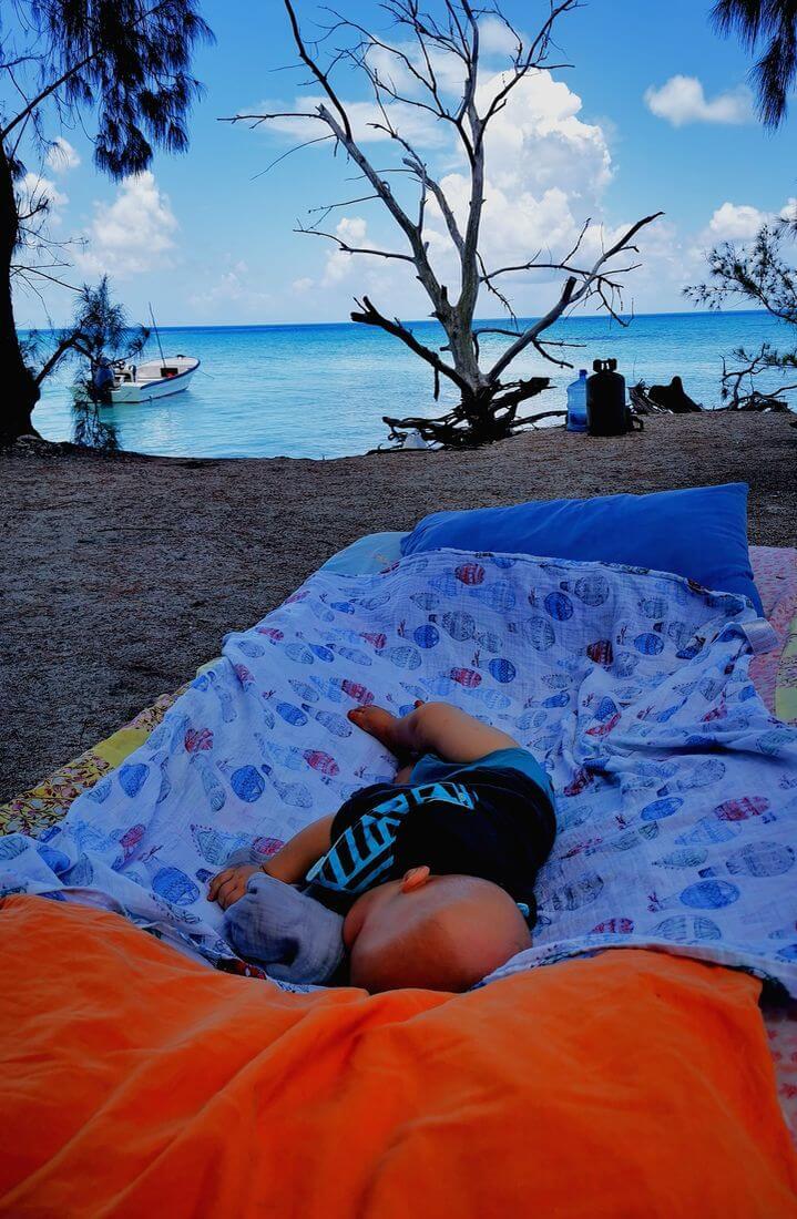 Voyager avec bébé en polynesie