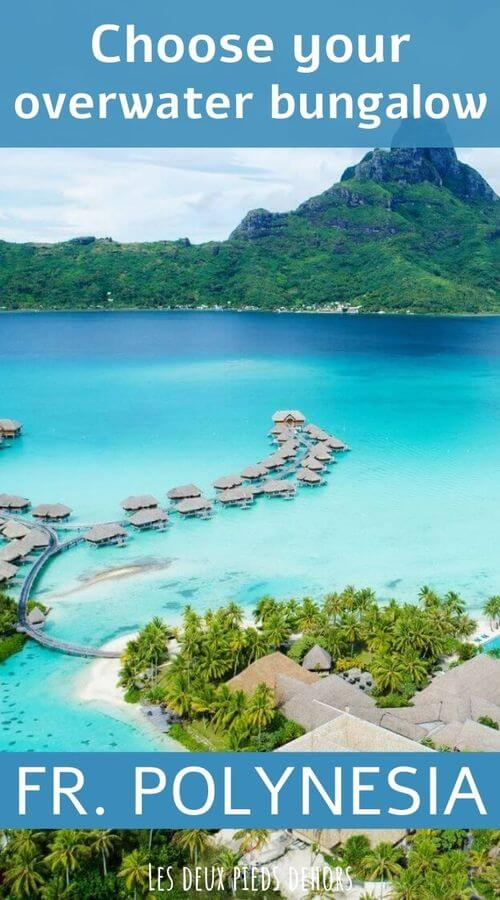 Overwater bungalow in Polynesia