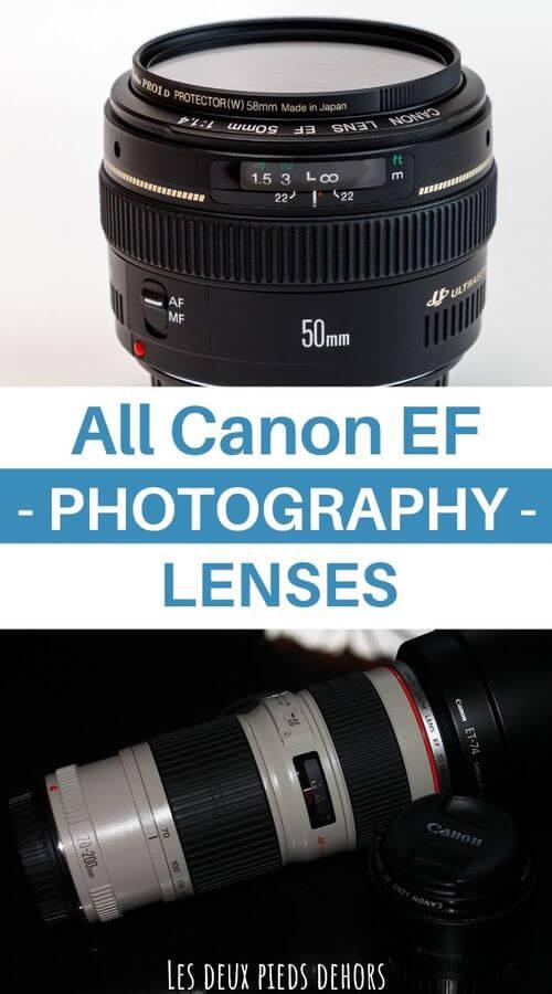 Canon EF full frame dslr lenses