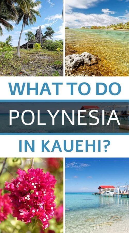 Kauehi Atoll in Polynesia