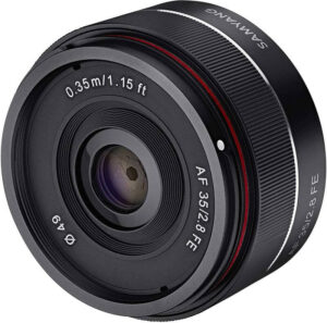 samyang 35mm f/2.8 pour sony FE alternative